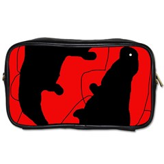 Black and red lizard  Toiletries Bags 2-Side