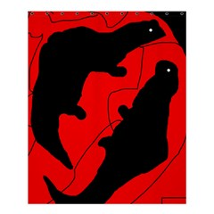 Black and red lizard  Shower Curtain 60  x 72  (Medium)