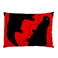 Black and red lizard  Pillow Case (Two Sides)