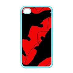 Black and red lizard  Apple iPhone 4 Case (Color)