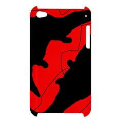 Black and red lizard  Apple iPod Touch 4