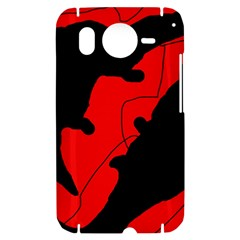 Black and red lizard  HTC Desire HD Hardshell Case