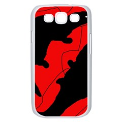 Black and red lizard  Samsung Galaxy S III Case (White)