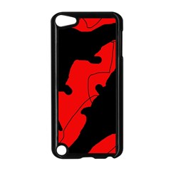 Black and red lizard  Apple iPod Touch 5 Case (Black)
