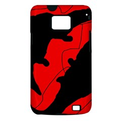 Black and red lizard  Samsung Galaxy S II i9100 Hardshell Case (PC+Silicone)