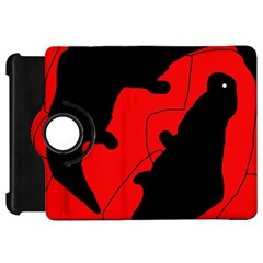 Black and red lizard  Kindle Fire HD Flip 360 Case