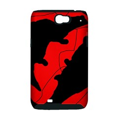 Black and red lizard  Samsung Galaxy Note 2 Hardshell Case (PC+Silicone)