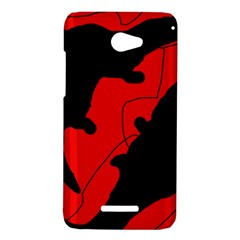 Black and red lizard  HTC Butterfly X920E Hardshell Case