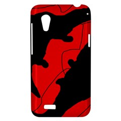 Black and red lizard  HTC Desire VT (T328T) Hardshell Case
