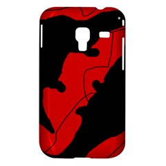 Black and red lizard  Samsung Galaxy Ace Plus S7500 Hardshell Case