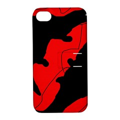 Black and red lizard  Apple iPhone 4/4S Hardshell Case with Stand