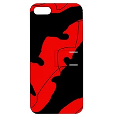 Black and red lizard  Apple iPhone 5 Hardshell Case with Stand