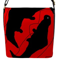 Black and red lizard  Flap Messenger Bag (S)
