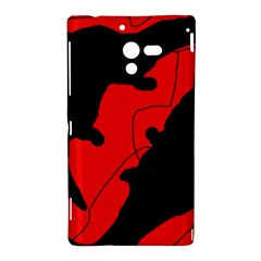 Black and red lizard  Sony Xperia ZL (L35H)