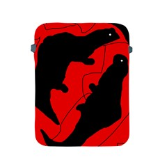 Black and red lizard  Apple iPad 2/3/4 Protective Soft Cases