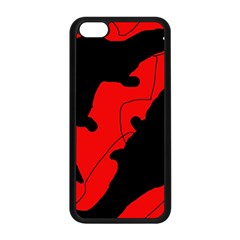 Black and red lizard  Apple iPhone 5C Seamless Case (Black)