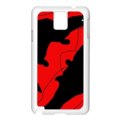 Black and red lizard  Samsung Galaxy Note 3 N9005 Case (White)