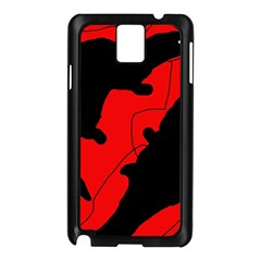 Black and red lizard  Samsung Galaxy Note 3 N9005 Case (Black)