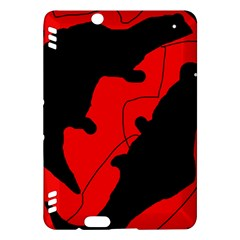 Black and red lizard  Kindle Fire HDX Hardshell Case