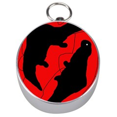 Black and red lizard  Silver Compasses