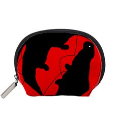 Black and red lizard  Accessory Pouches (Small)