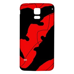Black and red lizard  Samsung Galaxy S5 Back Case (White)