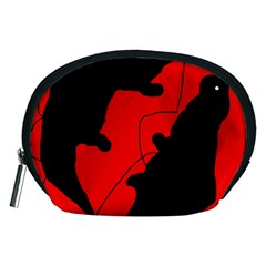 Black and red lizard  Accessory Pouches (Medium)