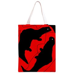 Black and red lizard  Classic Light Tote Bag