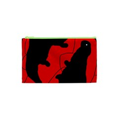 Black and red lizard  Cosmetic Bag (XS)
