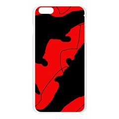 Black and red lizard  Apple Seamless iPhone 6 Plus/6S Plus Case (Transparent)