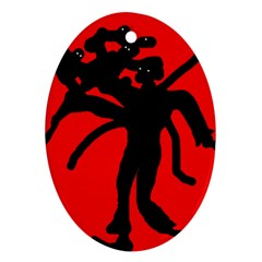 Abstract man Ornament (Oval)