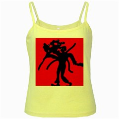 Abstract man Yellow Spaghetti Tank