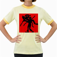 Abstract man Women s Fitted Ringer T-Shirts