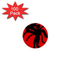 Abstract man 1  Mini Buttons (100 pack)