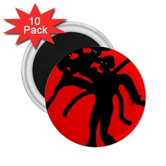 Abstract man 2.25  Magnets (10 pack)