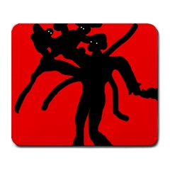 Abstract man Large Mousepads