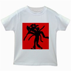 Abstract man Kids White T-Shirts