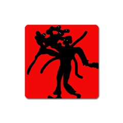 Abstract man Square Magnet