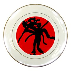 Abstract man Porcelain Plates