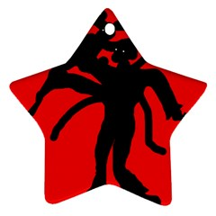 Abstract man Star Ornament (Two Sides)