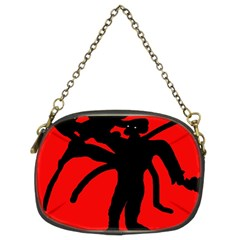 Abstract man Chain Purses (Two Sides)