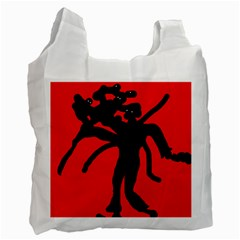 Abstract man Recycle Bag (Two Side)