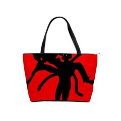 Abstract man Shoulder Handbags
