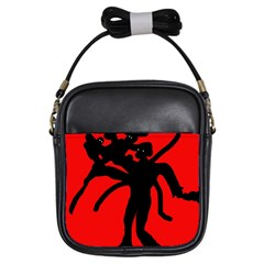 Abstract man Girls Sling Bags