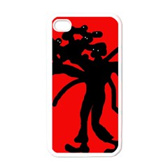 Abstract man Apple iPhone 4 Case (White)