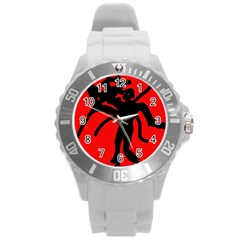 Abstract man Round Plastic Sport Watch (L)