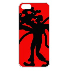 Abstract man Apple iPhone 5 Seamless Case (White)