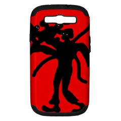 Abstract man Samsung Galaxy S III Hardshell Case (PC+Silicone)
