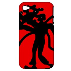 Abstract man Apple iPhone 4/4S Hardshell Case (PC+Silicone)