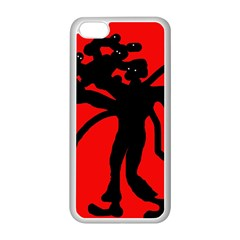 Abstract man Apple iPhone 5C Seamless Case (White)